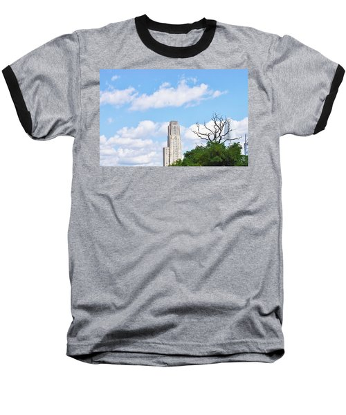 A Unique Perspective Baseball T-Shirt by Jean Goodwin Brooks