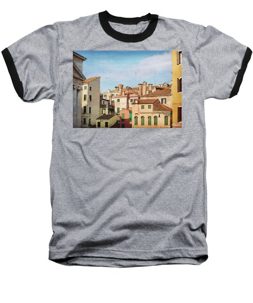Baseball T-Shirt featuring the photograph A Venetian View by Brooke T Ryan