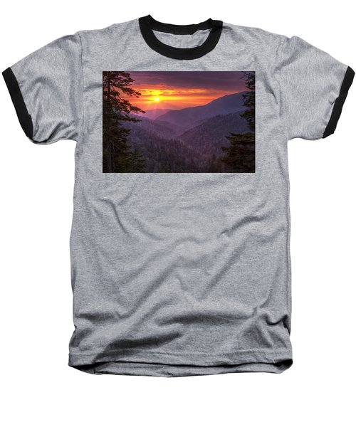 Baseball T-Shirt featuring the photograph A View At Sunset by Andrew Soundarajan