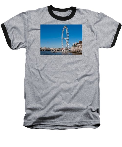 A View Of The London Eye Baseball T-Shirt
