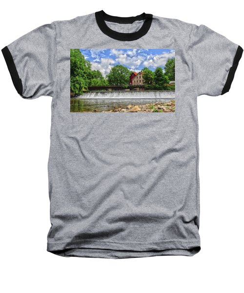 Baseball T-Shirt featuring the photograph A View Of The Mill From The River by Debra Fedchin