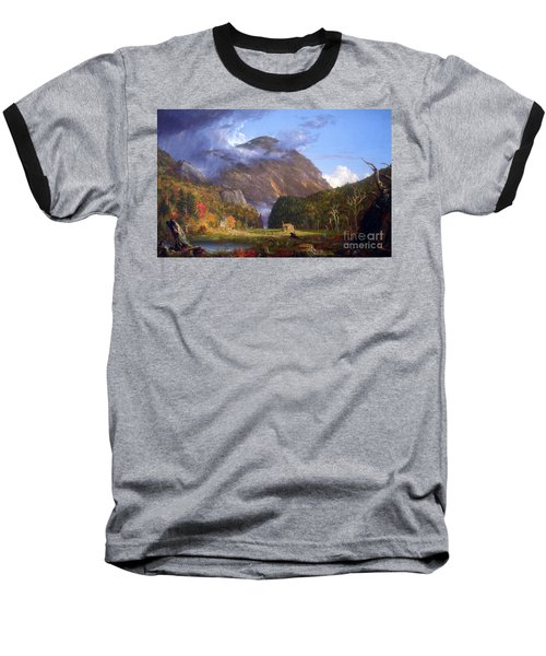 A View Of The Mountain Pass Called The Notch Of The White Mountans By Thomas Cole Baseball T-Shirt