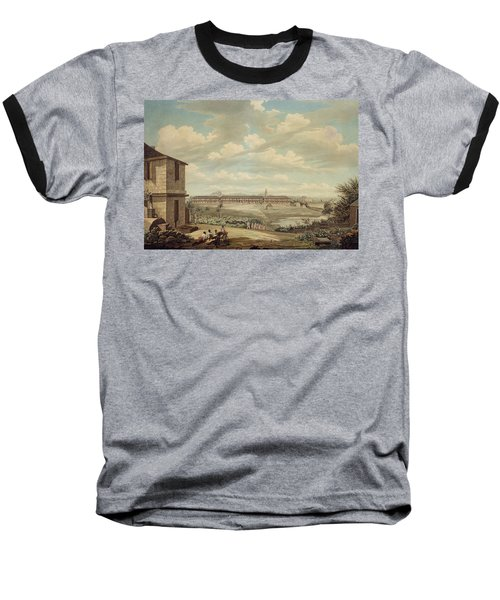 A View On The Island Of Antigua The English Barracks And St. Johns Church Seen From The Hospital Baseball T-Shirt