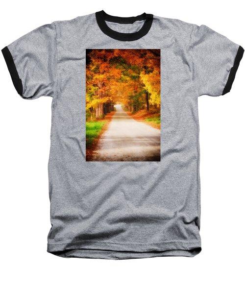 A Walk Along The Golden Path Baseball T-Shirt by Jeff Folger