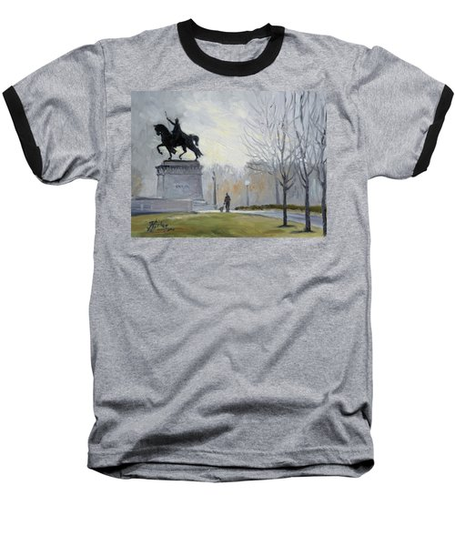 A Walk In Forest Park In St.louis Baseball T-Shirt by Irek Szelag