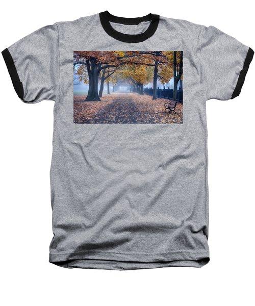 A Walk In Salem Fog Baseball T-Shirt