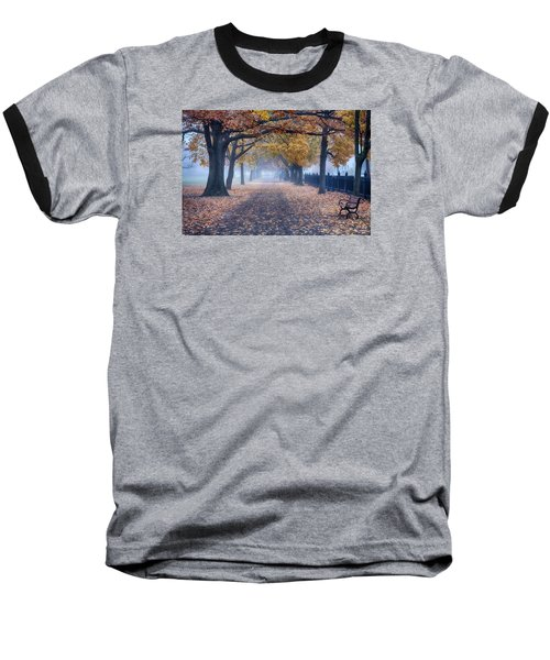 A Walk In Salem Fog Baseball T-Shirt