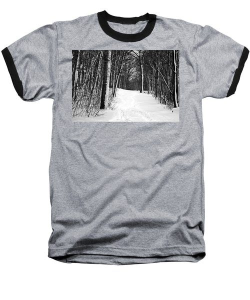 A Walk In Snow Baseball T-Shirt by Joe Faherty