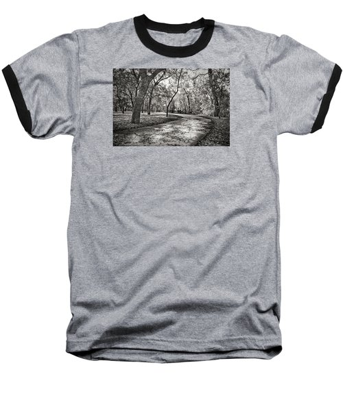 A Walk In The Park Baseball T-Shirt by Darryl Dalton