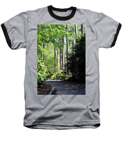 A Walk In The Shade Baseball T-Shirt by Maria Urso