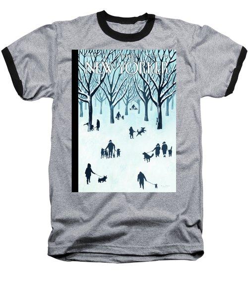 A Walk In The Snow Baseball T-Shirt