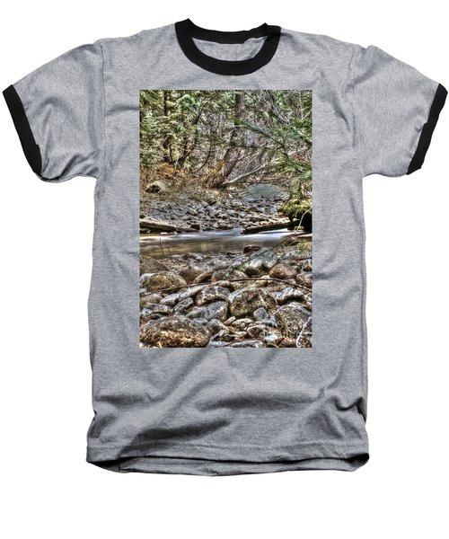 A Walk In The Woods Baseball T-Shirt by Loni Collins