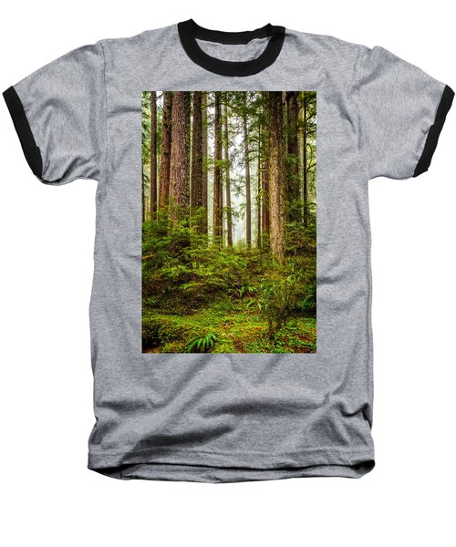 Baseball T-Shirt featuring the photograph A Walk Inthe Forest by Ken Stanback