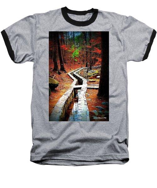 Baseball T-Shirt featuring the photograph A Walk Through The Woods by Tara Potts