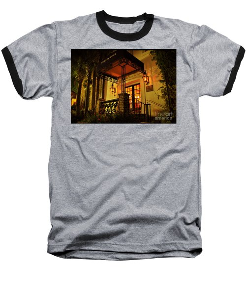 Baseball T-Shirt featuring the photograph A Warm Summer Night In Charleston by Kathy Baccari