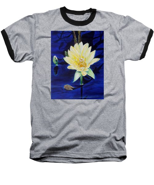 Baseball T-Shirt featuring the painting A Waterlily by Marilyn  McNish