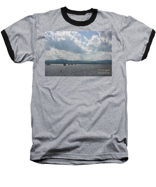 A Weekend On The Water Baseball T-Shirt by Barbara Bardzik