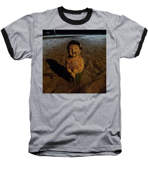 Baseball T-Shirt featuring the photograph A Welcoming Friend On My Night Stroll by Mr Photojimsf