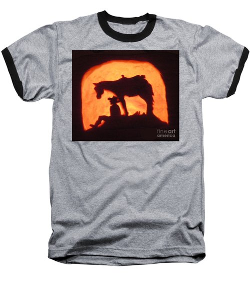 Country Style Halloween Pumpkin Carving Baseball T-Shirt