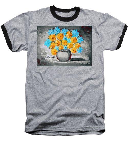 A Whole Bunch Of Daisies Selective Color II Baseball T-Shirt by Ramona Matei