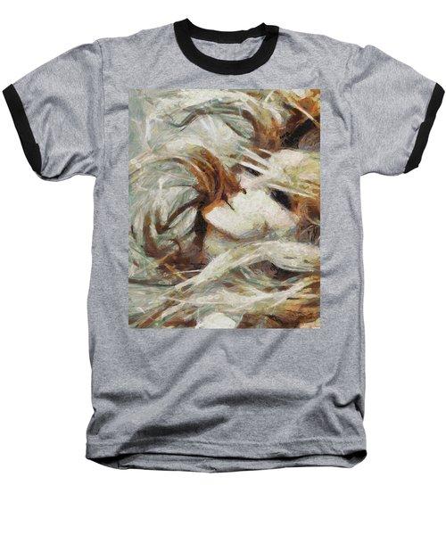 Baseball T-Shirt featuring the painting A Wild Dance by Joe Misrasi