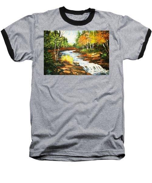 A Winding Creek In Autumn Baseball T-Shirt