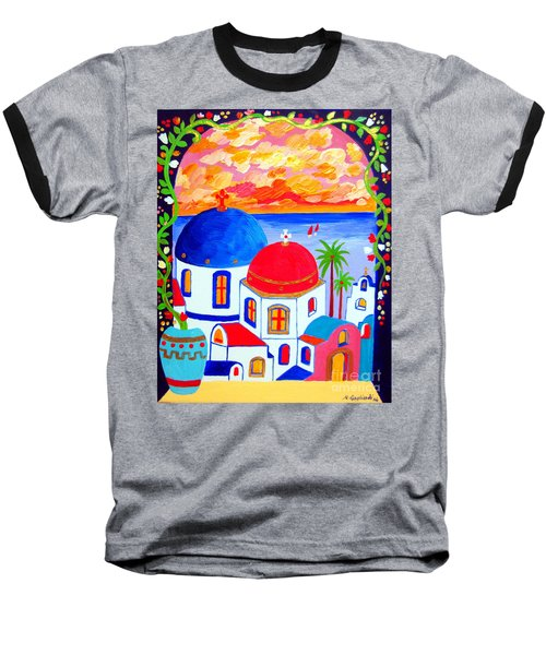A Window Over Santorini Baseball T-Shirt
