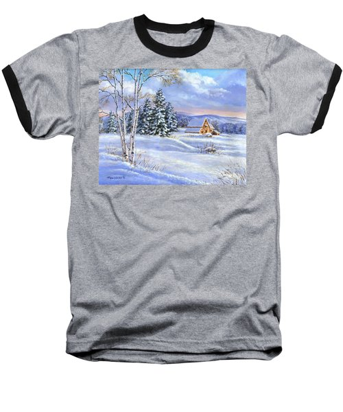 A Winter Afternoon Baseball T-Shirt