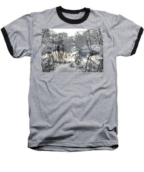 A Winter Scene Baseball T-Shirt