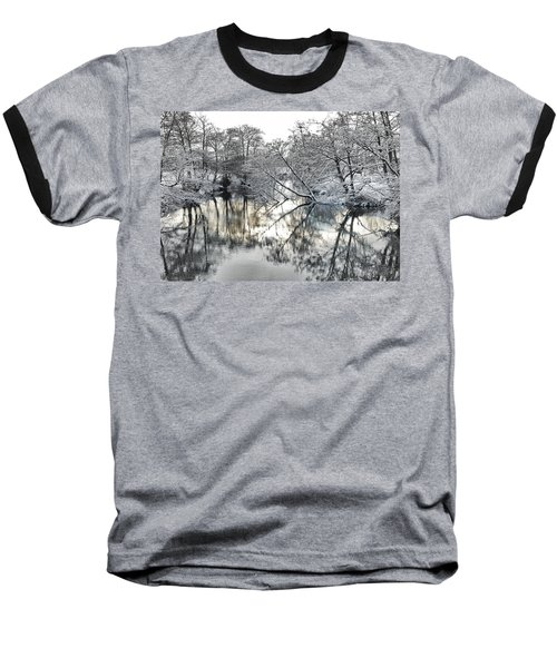 A Winter Scene Baseball T-Shirt