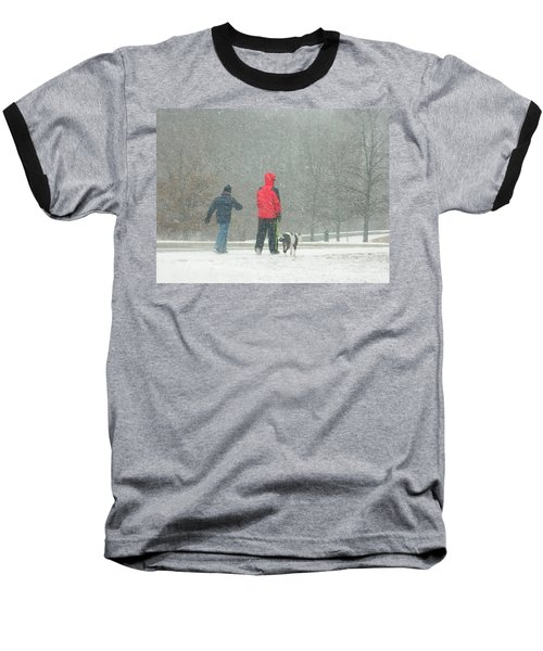 Baseball T-Shirt featuring the photograph A Winter Walk In The Park - Silver Spring Md by Emmy Marie Vickers