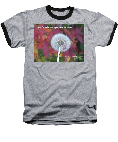 Baseball T-Shirt featuring the photograph A Wish For You by Robin Coaker
