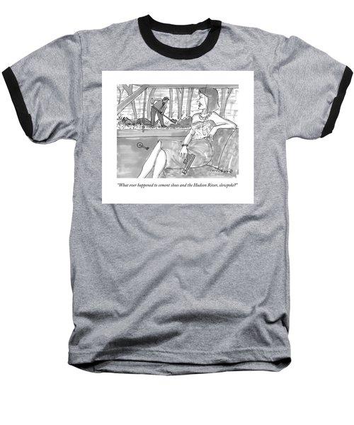 A Woman With A  Gun Waits In The Car As A Man Baseball T-Shirt
