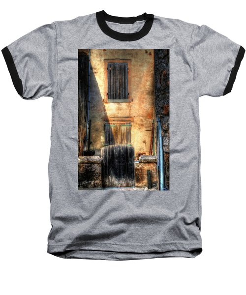 Baseball T-Shirt featuring the photograph A Yard In France by Tom Prendergast