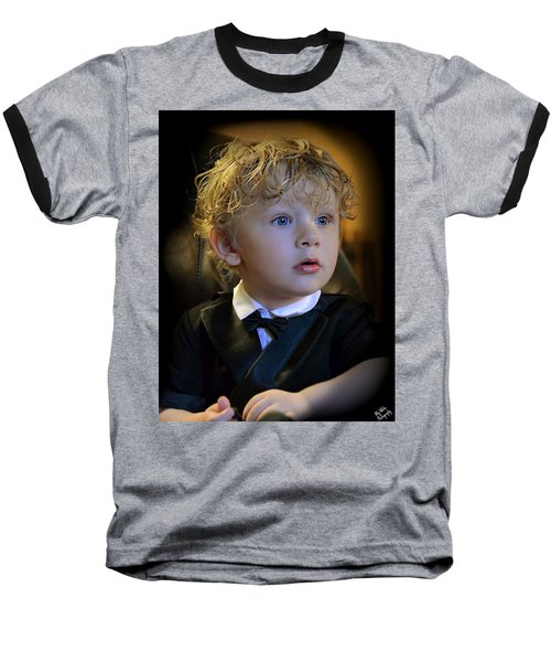 Baseball T-Shirt featuring the photograph A Young Gentleman by Ally  White
