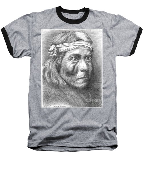 Shadow Catcher, A Zuni Governor Baseball T-Shirt by Bill Hubbard