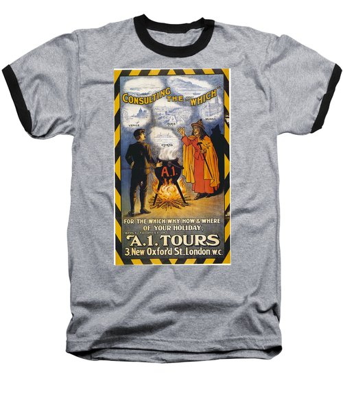 Baseball T-Shirt featuring the photograph A1 Tours Vintage Travel Poster by Gianfranco Weiss