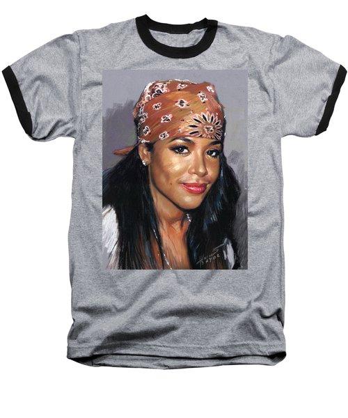 Aaliyah Baseball T-Shirt by Viola El