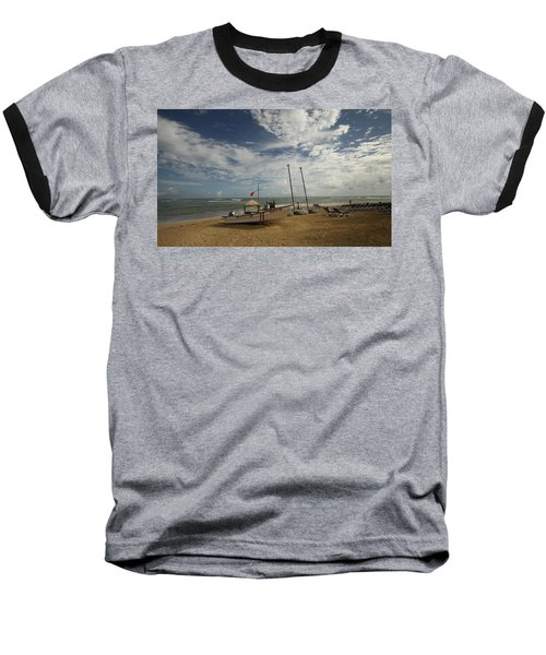 Abandoned Beach Baseball T-Shirt