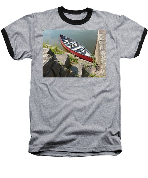 Abandoned Boat At The Quay Baseball T-Shirt
