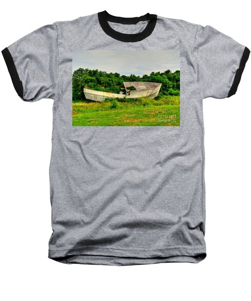Baseball T-Shirt featuring the photograph Abandoned Boat by Kathy Baccari