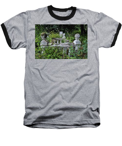 Baseball T-Shirt featuring the photograph Abandoned Cemetery 2 by Cathy Mahnke