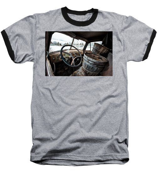 Baseball T-Shirt featuring the photograph Abandoned Chevrolet Truck - Inside Out by Gary Heller