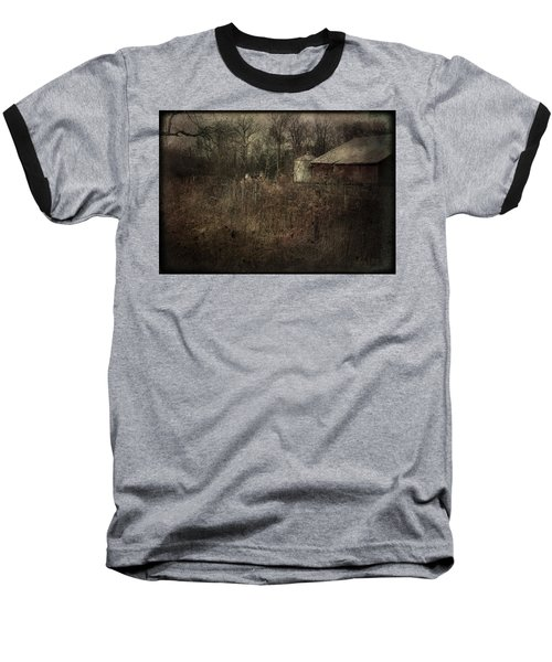 Baseball T-Shirt featuring the photograph Abandoned Farm by Cynthia Lassiter