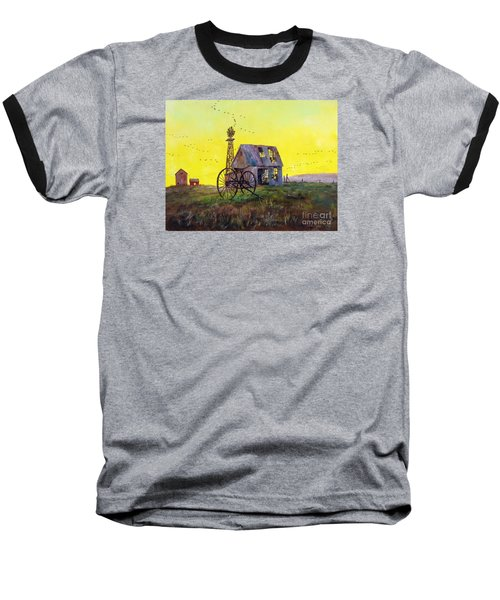 Abandoned  Farm Baseball T-Shirt by Lee Piper