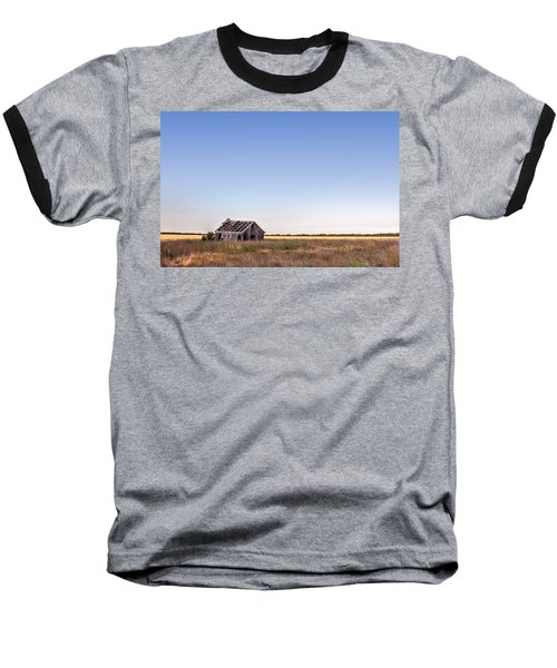 Abandoned Farmhouse In A Field Baseball T-Shirt