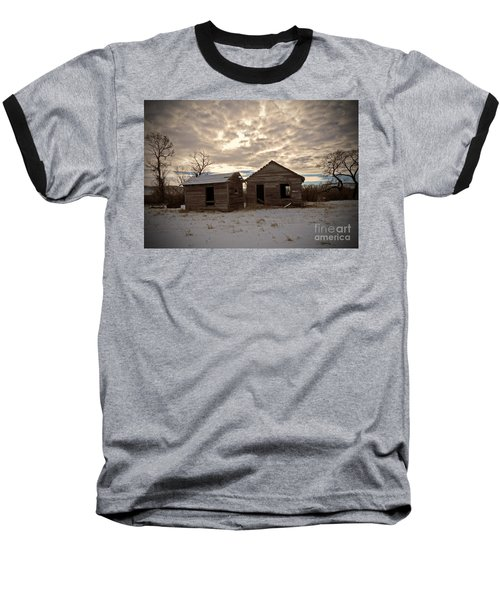 Abandoned History Baseball T-Shirt by Desiree Paquette