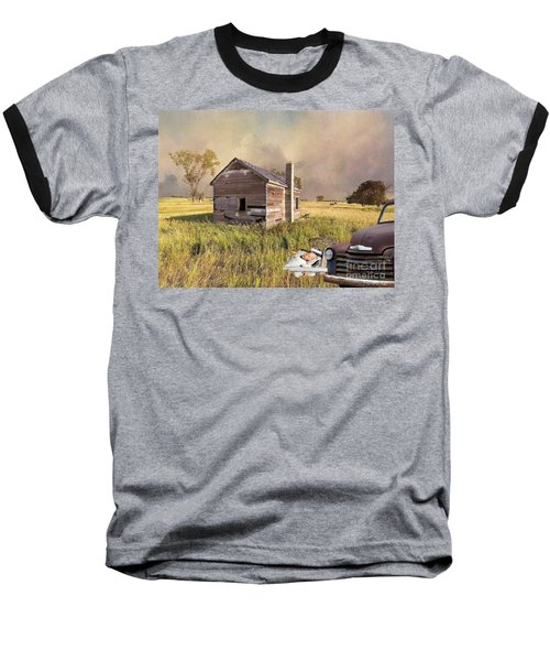 Baseball T-Shirt featuring the photograph Abandoned by Liane Wright