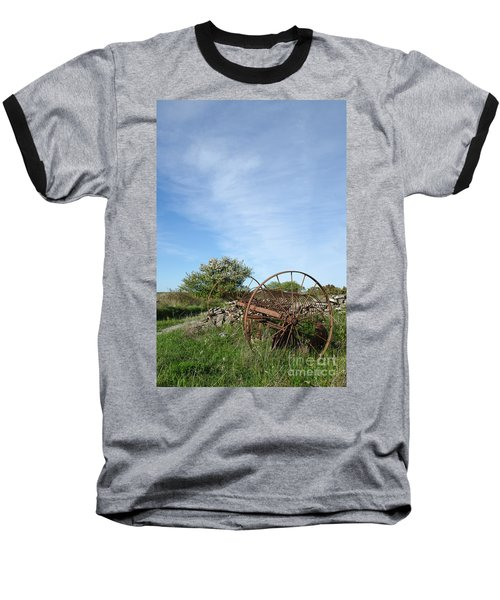 Abandoned Old Horse Rake  Baseball T-Shirt