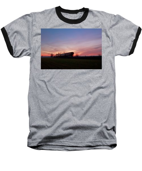 Baseball T-Shirt featuring the photograph Abandoned Train  by Eti Reid